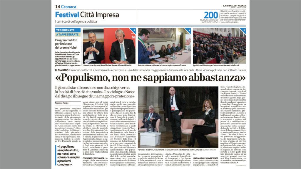 9b5c1b61af «Populismo, non ne sappiamo abbastanza». Federico Murzio / Il Giornale di  Vicenza